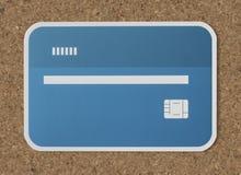 Maquette de papier d'icône de carte de crédit Images stock