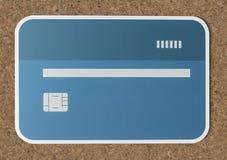 Maquette de papier d'icône de carte de crédit Image libre de droits