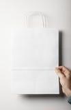 Maquette de sac de livre blanc Images stock