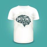 Maquette de T-shirt avec la silhouette et le lettrage d'esprits humains Illustration de vecteur Image stock