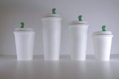 Maquette de tasse de café de livre blanc Image libre de droits
