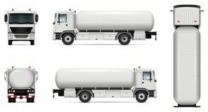 Maquette de vecteur de camion-citerne aspirateur Image libre de droits