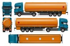 Maquette de vecteur de camion-citerne aspirateur Photos libres de droits