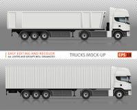 Maquette de vecteur de camions Image libre de droits