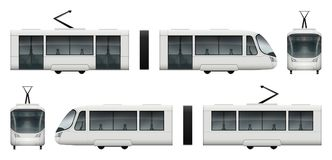 Maquette de vecteur de train de tram Photos libres de droits