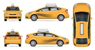Maquette de vecteur de voiture de taxi Photos stock