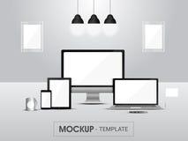 Maquette des dispositifs numériques pour des affaires Image stock