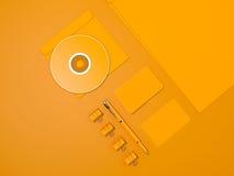 Maquette jaune d'identité d'entreprise Photographie stock libre de droits