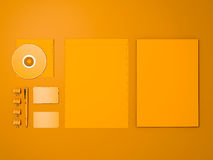 Maquette jaune d'identité d'entreprise Photo libre de droits