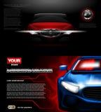 Maquette moderne rouge de voiture de sport de vecteur de Digital Photographie stock libre de droits
