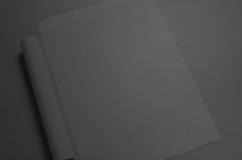 Maquette noire de l'affiche A3 Photos stock