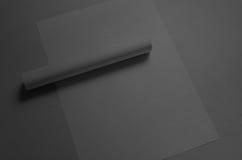 Maquette noire de l'affiche A3 Photos libres de droits