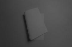 Maquette noire de l'affiche A3 - incurvée Photos libres de droits