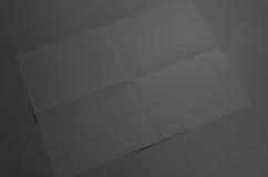 Maquette noire de l'affiche A3 - plissée Images stock