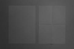 Maquette noire de l'affiche A3 - plissée et appartement Image libre de droits