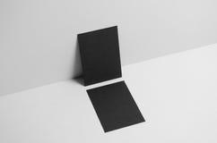 Maquette noire de l'insecte A6/carte postale/invitation - murez le fond Image libre de droits