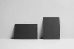 Maquette noire de l'insecte A6/carte postale/invitation - murez le fond Photos stock