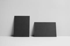 Maquette noire de l'insecte A6/carte postale/invitation - murez le fond Image stock