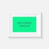 Maquette réaliste de cadre de tableau maquette de cadre d'art de vecteur Photos stock