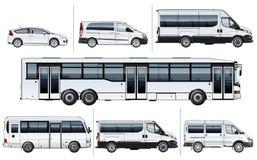 Maquette réaliste de transport de ville de vecteur illustration stock