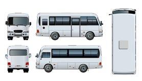 Maquette urbaine de minibus de passager de vecteur illustration libre de droits