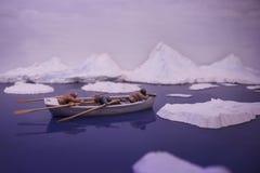 Maquette van een de jachtboot in het noordpoolgebied Royalty-vrije Stock Afbeeldingen