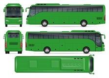 Maquette verte de vecteur d'autobus Image libre de droits