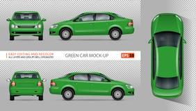 Maquette verte de vecteur de voiture Photographie stock