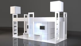 Maquette vide de cabine de salon commercial 3d rendent illustration de vecteur