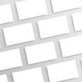 Maquette vide de cartes de visite professionnelle de visite - calibre Photos libres de droits