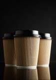 Maquettes à emporter de tasse de café de Brown Photo libre de droits