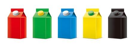 Maquettes pour les boissons de empaquetage version illustration libre de droits