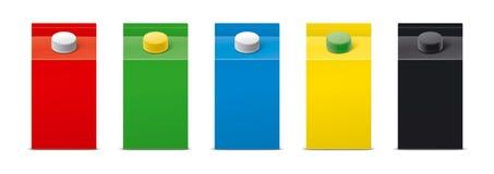 Maquettes pour les boissons de empaquetage version illustration de vecteur