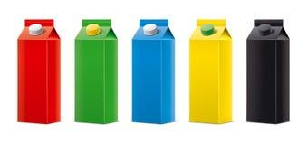 Maquettes pour les boissons de empaquetage version illustration stock