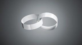 Maquettes vides de bracelets de livre blanc, profondeur d'effet de champ Image stock