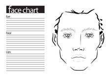 Maquilhador Blank da carta da cara do homem molde ilustração do vetor