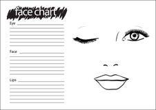 Maquilhador Blank da carta da cara ilustração royalty free