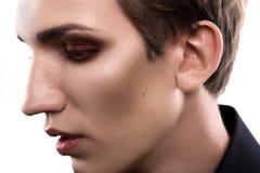Maquillage blond d'homme de mode Image libre de droits