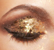 Maquillage brillant d'oeil Photos stock