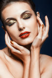 Maquillage brillant de visage Photos stock