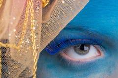 Maquillage d'oeil Photographie stock libre de droits