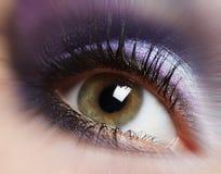 Maquillage d'oeil de femme de mode. images libres de droits