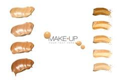 Maquillage de base d'échantillons de couleur image libre de droits