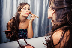 Maquillage de femme images libres de droits