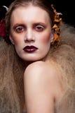 Maquillage de femme de beauté de Halloween Photographie stock