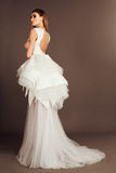Maquillage de mariage de portrait de jeune mariée, coiffure, bijoux de mannequin et visage de fille de beauté Images libres de droits