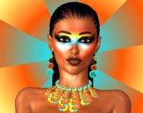 Maquillage de mode sur le fond abstrait Photo stock