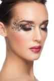 Maquillage de scintillement de Facny photo stock