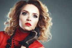 maquillage de soirée Photographie stock libre de droits