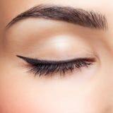 Maquillage de zone d'oeil Photos libres de droits